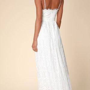 Lulu's Dresses - Lulus Unending Love White Lace Maxi Dress